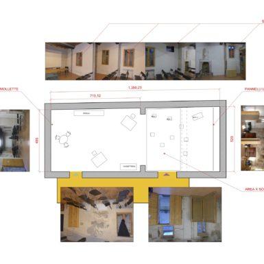 Planimetria per l'allestimento di un evento presso la Cascina Cuccagna